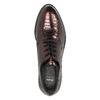 Metalické kožené polobotky na výrazné podešvi bata, červená, 526-5607 - 19