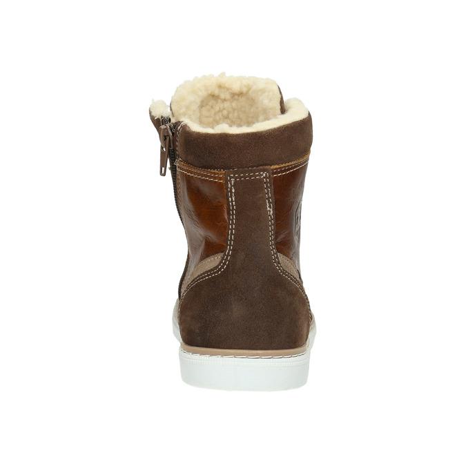 Kožená dětská obuv bull-boxer, hnědá, 494-3003 - 17