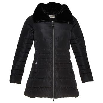 Dámská bunda s kožíškovým límcem bata, černá, 979-6649 - 13