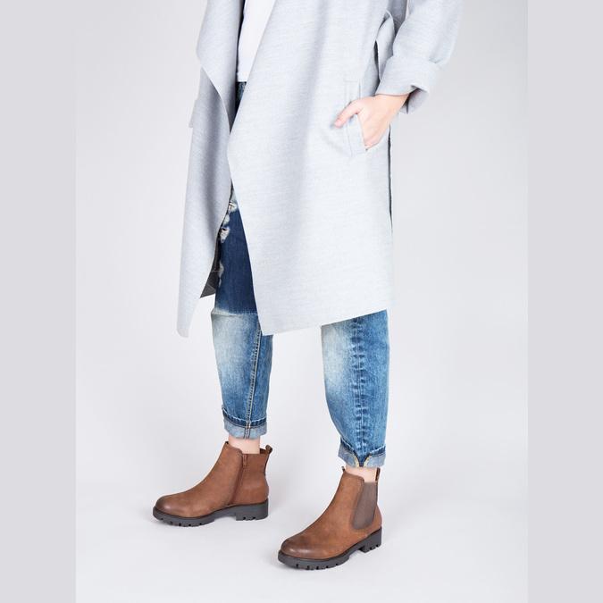 Dámská kotníčková obuv bata, hnědá, 696-4606 - 18