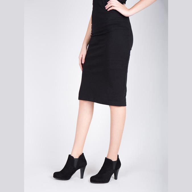 Dámská kotníčková obuv na podpatku s pružnými boky bata, černá, 799-6601 - 18