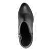 Kožená kotníčková obuv na podpatku gino-rossi, černá, 714-6010 - 19