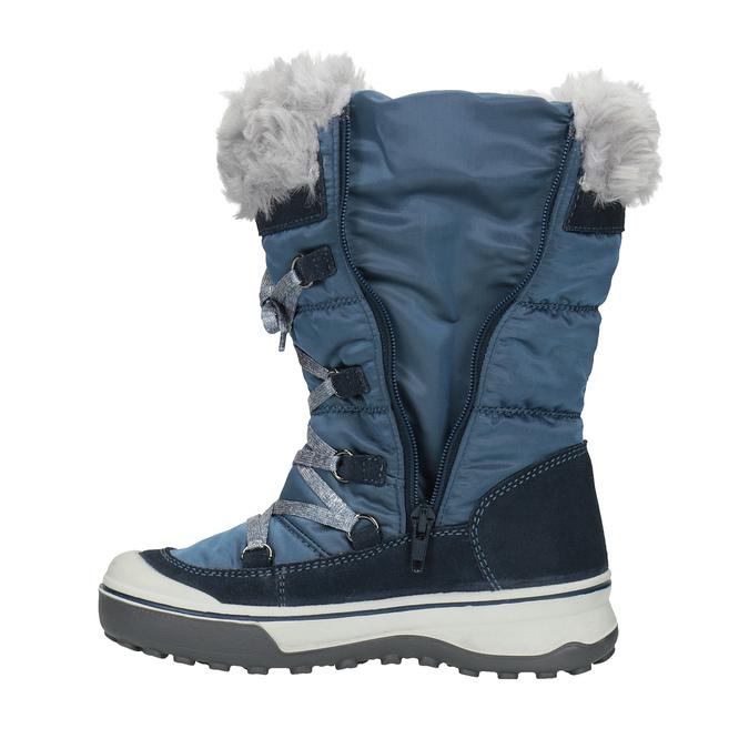 Dětská zimní obuv s kožíškem weinbrenner, modrá, 499-9613 - 19