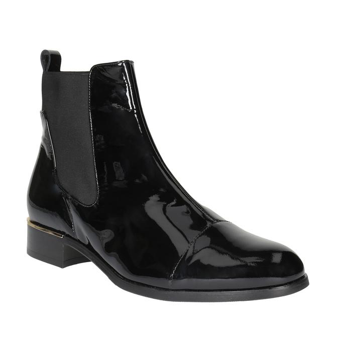 Kožené dámské Chelsea Boots hogl, černá, 618-6001 - 13