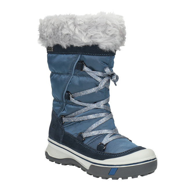 Dětská zimní obuv s kožíškem weinbrenner, modrá, 499-9613 - 13