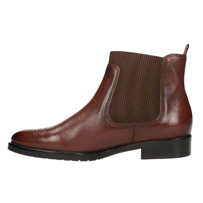 Kožená dámská Chelsea obuv gabor, hnědá, 516-3013 - 26