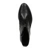 Kožená kotníčková obuv šněrovací gabor, černá, 694-6016 - 19
