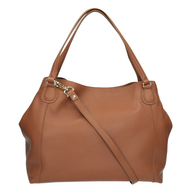 Hnědá kožená kabelka bata, hnědá, 964-3215 - 26