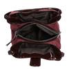 Vínová kabelka s lakovanými detaily bata, fialová, 969-5209 - 15