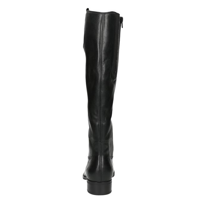 Dámské kožené kozačky gabor, černá, 694-6104 - 17