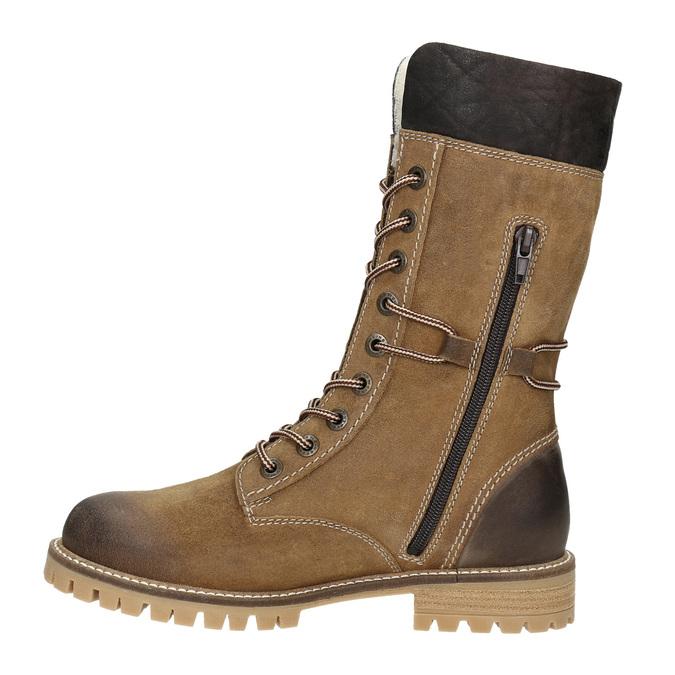 Dámská zimní obuv s kožíškem weinbrenner, žlutá, 593-8476 - 15
