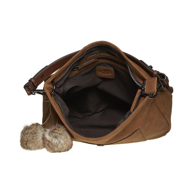 Dámská kabelka s bambulkami bata, hnědá, 961-3244 - 15
