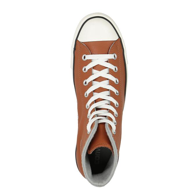 Kožené kotníčkové tenisky converse, hnědá, 846-4081 - 19
