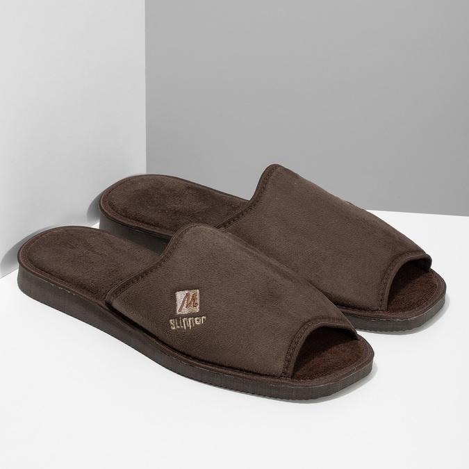 Pánská domácí obuv bata, hnědá, 879-4606 - 26