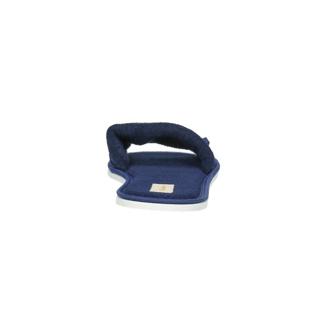 Dámská domácí obuv s mašličkou bata, modrá, 579-9609 - 17