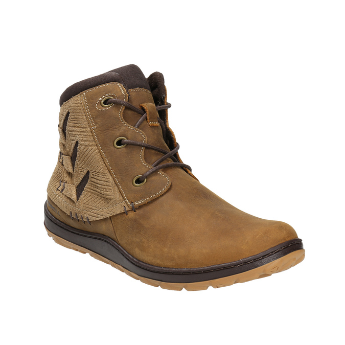 Kožená kotníčková obuv dámská merrell, hnědá, 506-3809 - 13