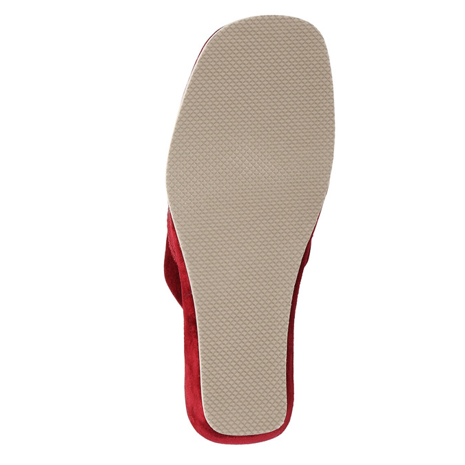 Dámská domácí obuv na klínovém podpatku bata, červená, 679-5607 - 26