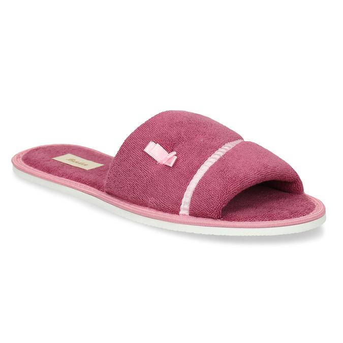 Dámské pantofle s mašličkou bata, růžová, 579-5609 - 13