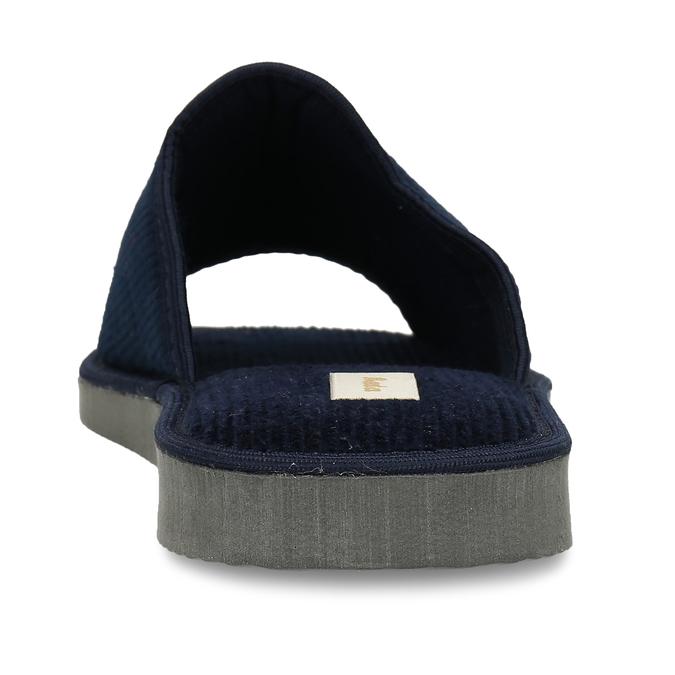 Pánská domácí obuv bata, modrá, 879-9609 - 15