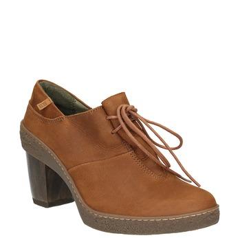 Kožená kotníčková obuv se šněrováním el-naturalista, hnědá, 726-4045 - 13