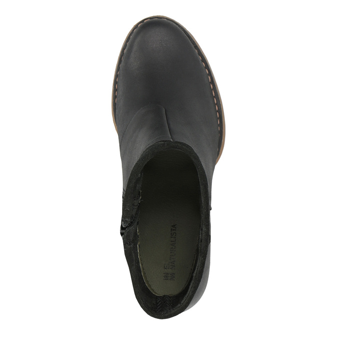 Dámská kotníčková obuv el-naturalista, černá, 714-6041 - 19