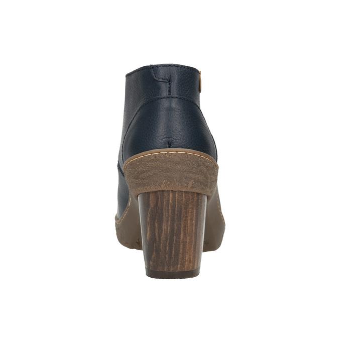Kotníčková obuv na stabilním podpatku el-naturalista, modrá, 724-9045 - 17
