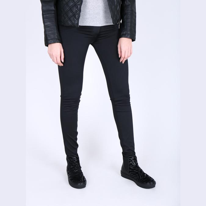 Kožená kotníčková obuv se zvířecím vzorem bata, černá, 546-6601 - 18