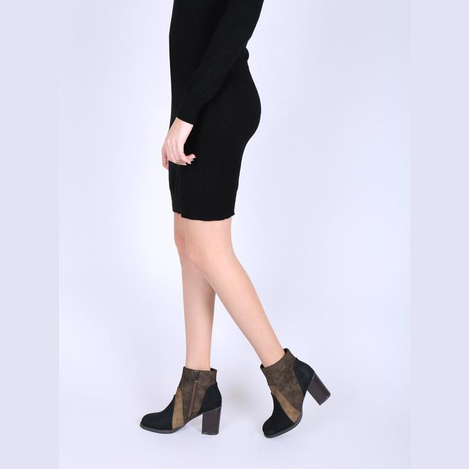 Kotníčková obuv na širokém podpatku bata, hnědá, 799-3612 - 18
