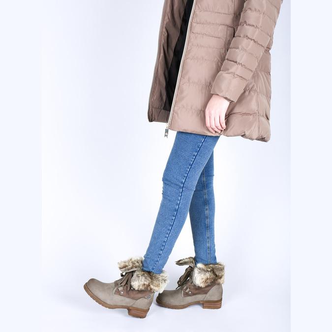 Dámská zimní obuv s kožíškem bata, hnědá, 591-3605 - 18