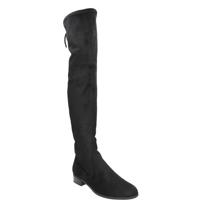 Kožené kozačky nad kolena hogl, černá, 693-6001 - 13