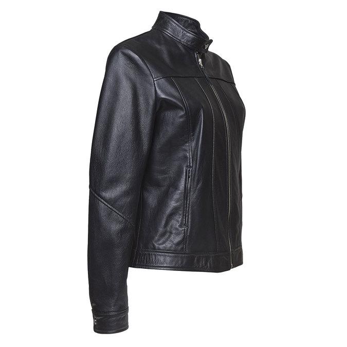 Dámská kožená bunda bata, černá, 974-6146 - 16