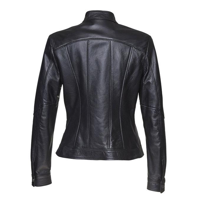 Dámská kožená bunda bata, černá, 974-6146 - 26