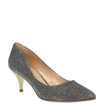 Lodičky na nízkém podpatku bata, šedá, 629-8631 - 13