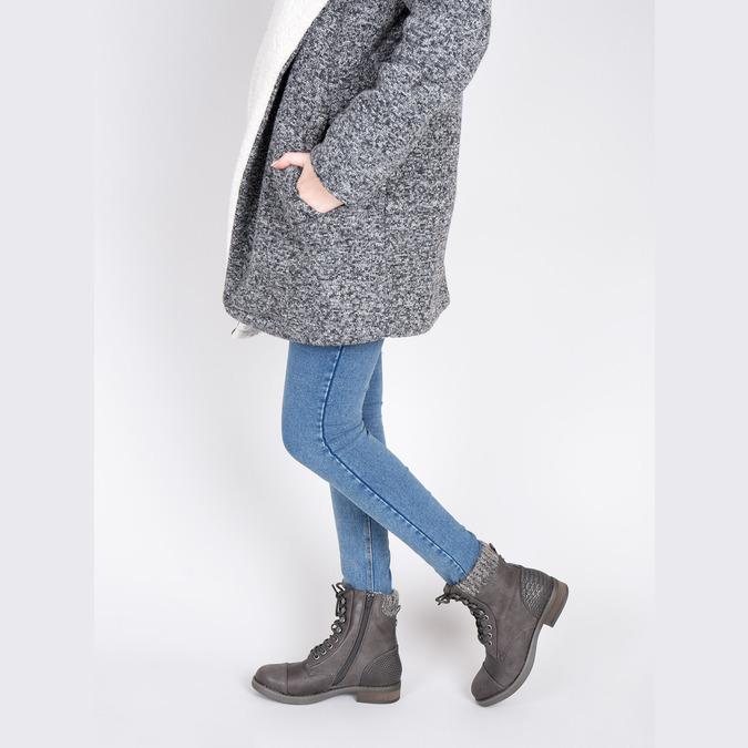 Dámská zimní obuv šněrovací bata, šedá, 591-6606 - 18
