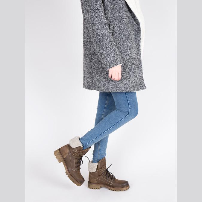 Dámská kožená zimní obuv manas, hnědá, 596-4602 - 18