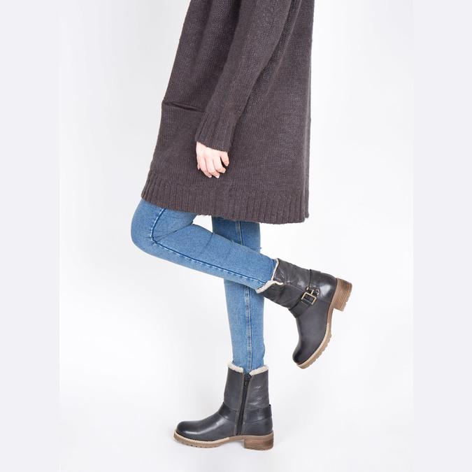 Dámská obuv s kožíškem bata, černá, 594-6609 - 18