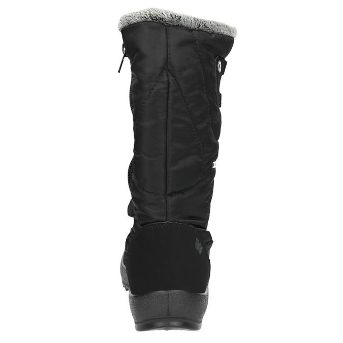 Černé dámské sněhule s kožíškem weinbrenner, černá, 599-6612 - 17