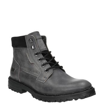 Kožené kotníčkové boty na výrazné podešvi weinbrenner, šedá, 896-2110 - 13