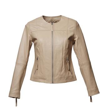 Elegantní kožená bunda bata, béžová, 974-2312 - 13