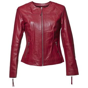 Elegantní kožená bunda bata, červená, 974-5312 - 13
