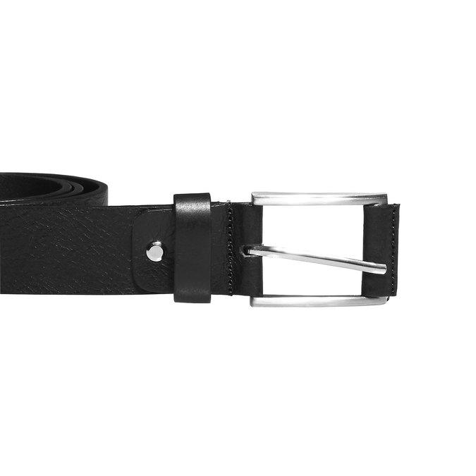 Klasický kožený pásek bata, černá, 954-6833 - 26
