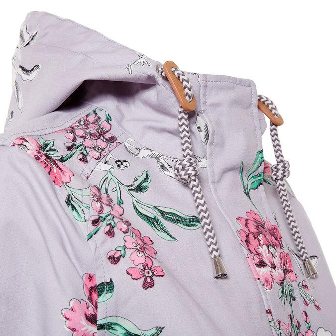 Dámská bunda s květy joules, šedá, 979-2033 - 16