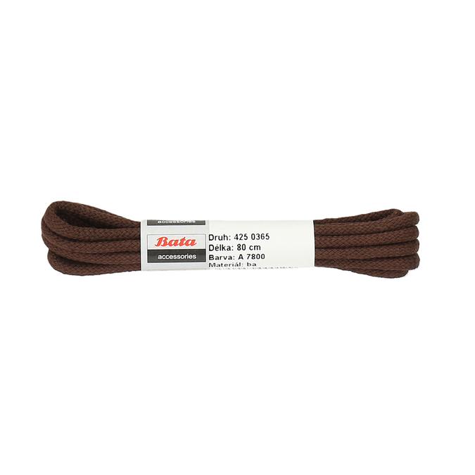 Hnědé tkaničky 80 cm bata, hnědá, 901-4806 - 13
