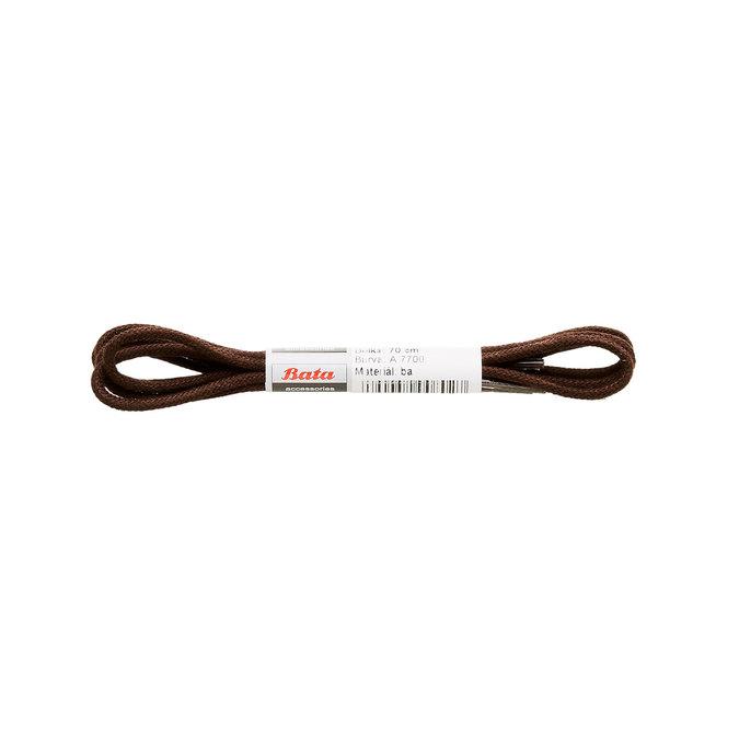 Hnědé kulaté tkaničky o délce 70 cm bata, hnědá, 901-0586 - 13