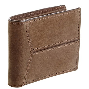 Pánská kožená peněženka s prošíváním bata, hnědá, 944-8146 - 13