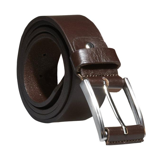 Klasický kožený pásek bata, hnědá, 954-4833 - 13