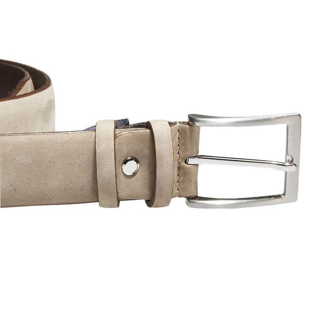 Pánský kožený opasek bata, béžová, 954-8120 - 26