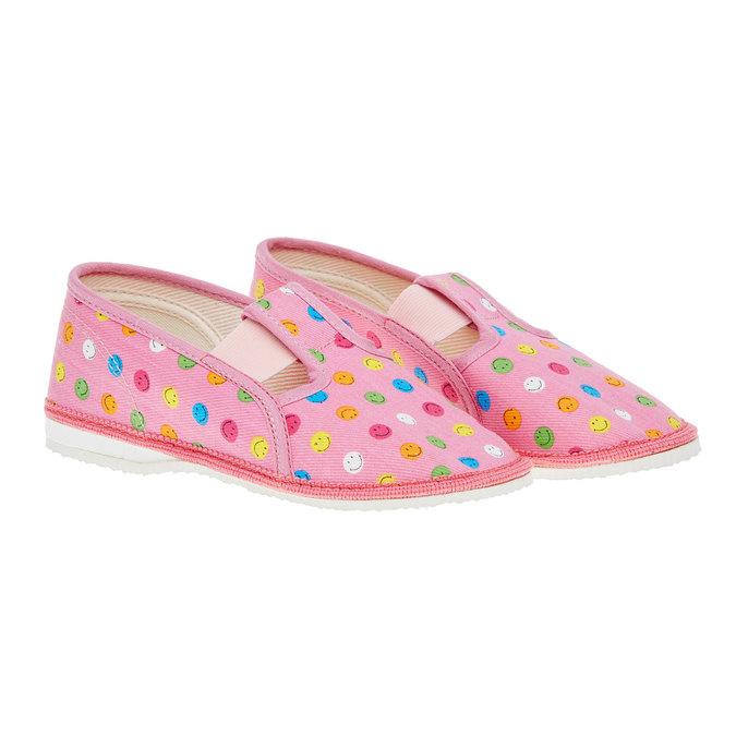 Dětská domácí obuv bata, růžová, 279-5011 - 26