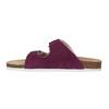 Dámské kožené pantofle de-fonseca, fialová, 573-5620 - 26