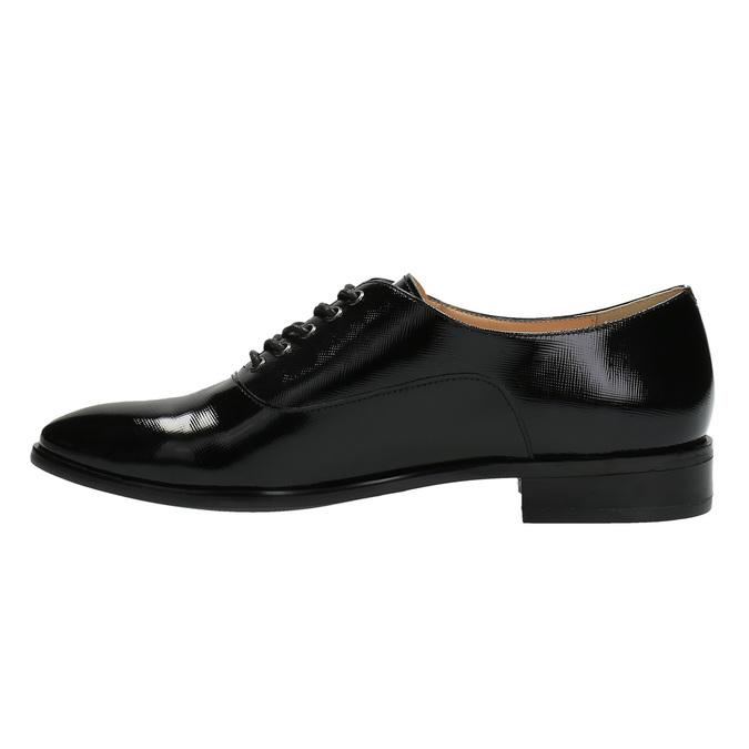 Dámské kožené polobotky bata, černá, 528-6631 - 26